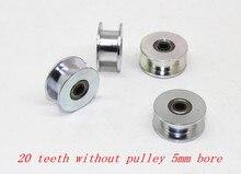 Imprimante 3D accessoires 20 dents synchrone roue poulie roue Perlin 2GT dents engrenage alésage 5mm avec livraison gratuite