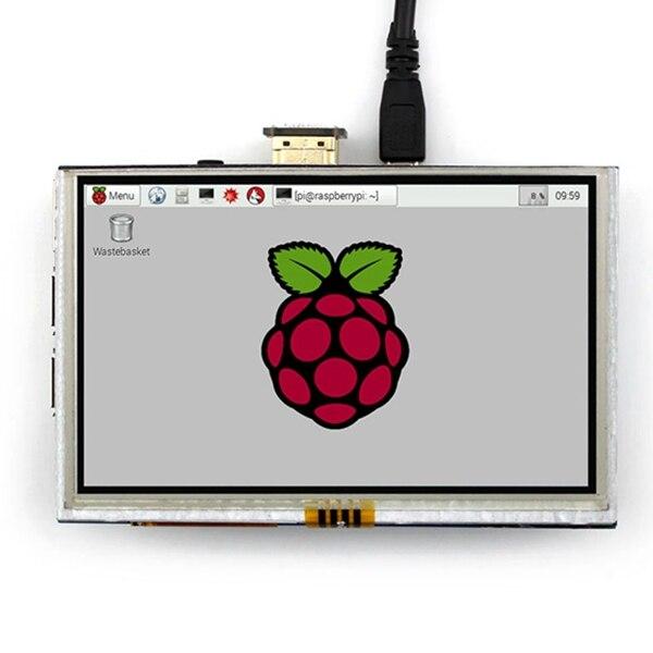 5-дюймовый сенсорный ЖК-экран HDMI, TFT ЖК-панель, модуль 800*480 для банана Pi Raspberry Pi 4B raspberry pi 3 model b/B +