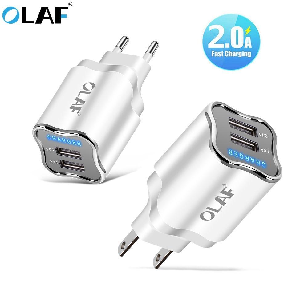 OLAF LED 5V2A USB зарядное устройство EU US адаптер Быстрое настенное зарядное устройство для Samsung S7 xiaomi redmi huawei micro usb кабель 1 м