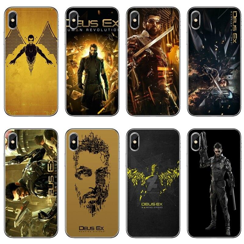 Deus Ex la humanidad dividido juegos caja del teléfono para iPhone 7 6s 6 plus XR X XS X Max SE 5S 5c 5 4S 4 iPod Touch cubierta suave