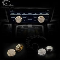 2pcs car air conditioning decoration knob button fit diamond sticker for porsche cayenne 911 718 panamera macan boxster cayman