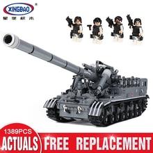 XingBao 06001 1389Pcs Creative MOC Military Series The T92 Tank Set Children Education Building Blocks Bricks Toys Model Gift