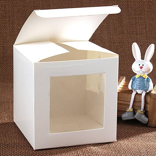 Caja con ventana cajas de cartón de regalo cajas de papel de regalo de color blanco cajas de cartón Cajas de Regalo de joyería