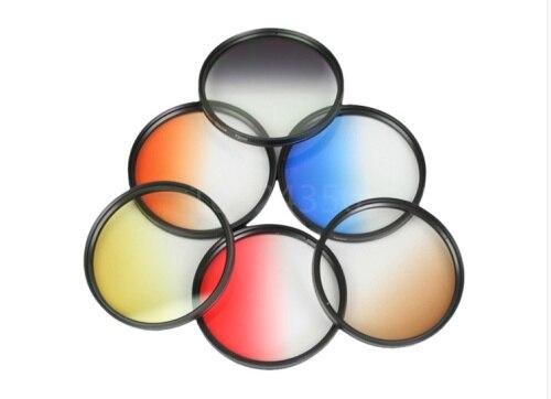 DSLR Cámara Filtro de color para objetivos filtro polarizado 37 40,5 43 46 49 52 55 58 62 67 72 77 mm rojo naranja para Canon Nikon Sony a5000