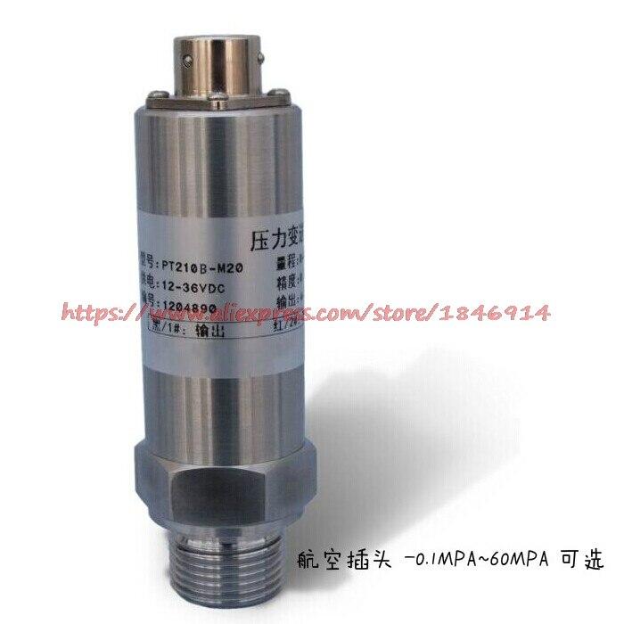Free shipping     Air plug pressure transmitter sensor -0.1-60MPA KPA 4-20mA 0-10V 0-5V