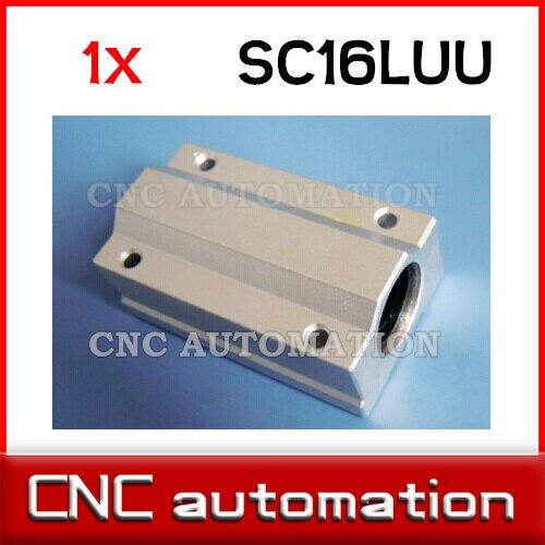 SC16LUU SCS16LUU 16mm bloque de rodamiento de bolas lineal CNC enrutador almohada para eje de 16mm