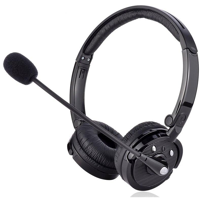 Auriculares estéreo Bluetooth con micrófono ajustable, Sonido HD inalámbrico, auriculares para llamadas de 12 horas
