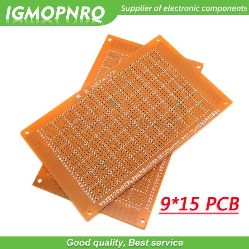 2 pces 9x15cm 9*15 9cm * 15cm diy protótipo de papel pcb experiência universal matriz placa de circuito