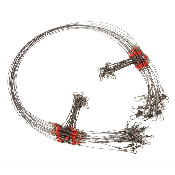 5 unids/lote correa de Línea alámbrica de pesca señuelo línea de anzuelo Trace Wire giratorio Snap Spinner rotativo tiburones Expert 4,0 #