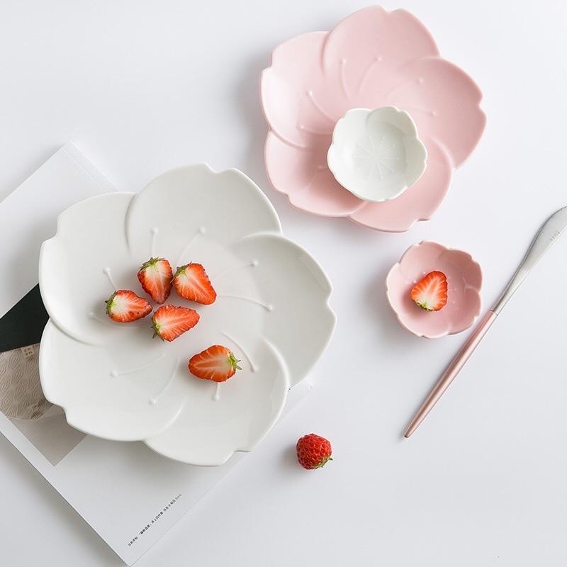 Японский стиль градиентные лепестки посуда кофейные соусы лепестки десертные миски десертный лоток