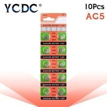 Батарейки AG5 LR754 393, 10 шт./упак. батарейки SR754, 193, щелочные батарейки для монет, 1,55 в, 393A, 48LR, G5A, для часов, игрушек, пультов дистанционного управления