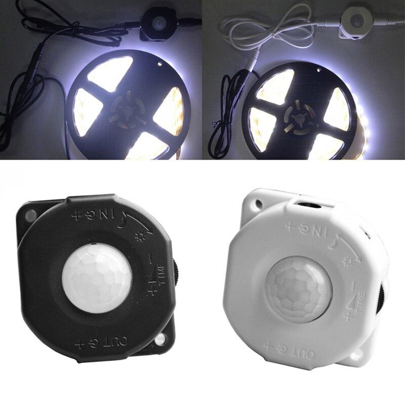 Сенсорный выключатель постоянного тока 12 В 24 В 6A, Автоматический Инфракрасный ПИР движения для светодиодной лампы, черные/белые переключатели