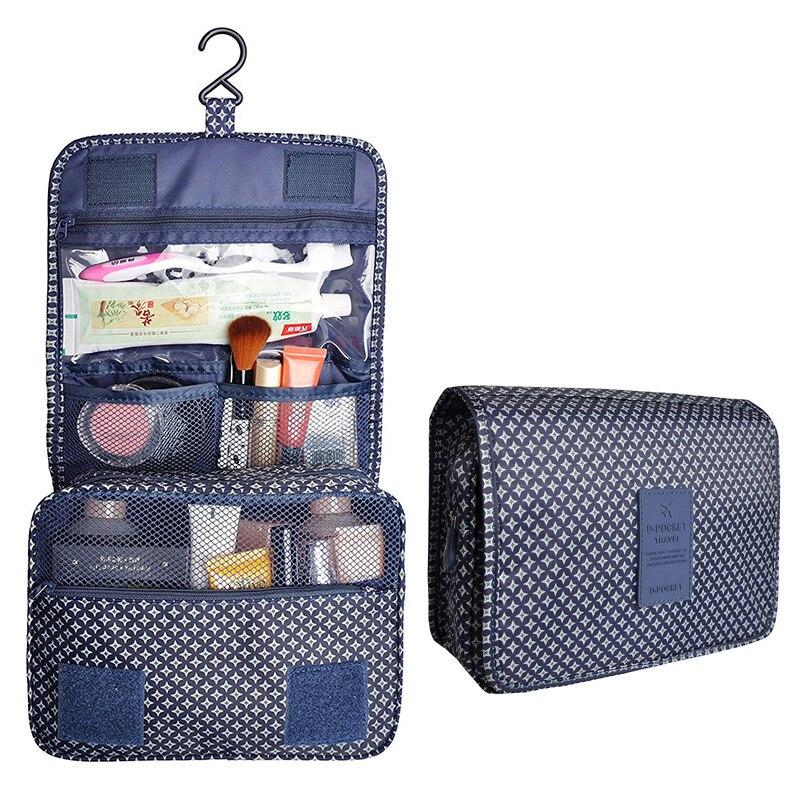 Travel Portable Makeup Bag Men Women Multifunction organizer Cosmetic Bag Waterproof with Hanging Hook For Toiletry wash Bag
