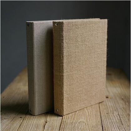 Papel Kraft de 30P 500g de grosor de arpillera y lino para álbum DIY, papel pintado a mano para álbum de recortes