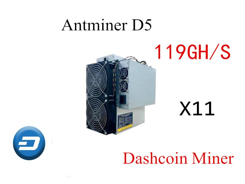 O Mais Novo X11 Mineiro Bitmain Antminer D5 119GH/s Com PSU Traço Asic Miner Better Than D3 S9 Z9 mini Baikal BK-X X10 BK-G28