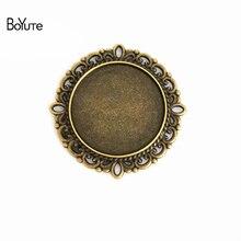 BoYuTe (30 pièces/lot) 25MM Base Cabochon accessoires Vintage pièces Antique Bronze Double Support lunette pendentifs pour bijoux