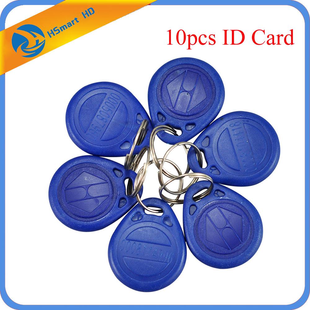 Pack of 10PCs RFID Cards 125Khz EM ID RFID Card TK4100 Chip Keychain for Access Control Systems (add ID Card )