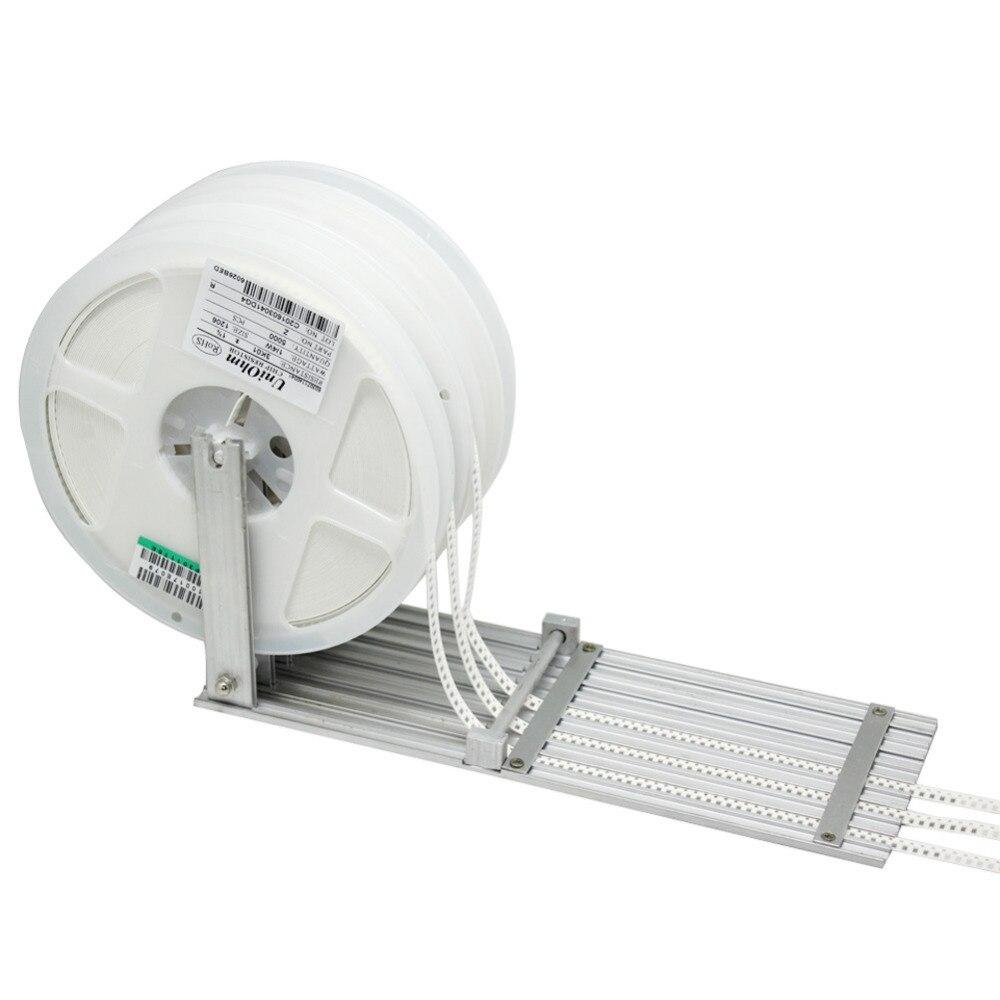AideTek 5 vias Componente SMT Alimentador para DIY Prototype Pick Up Lugar SDM carretel SMT