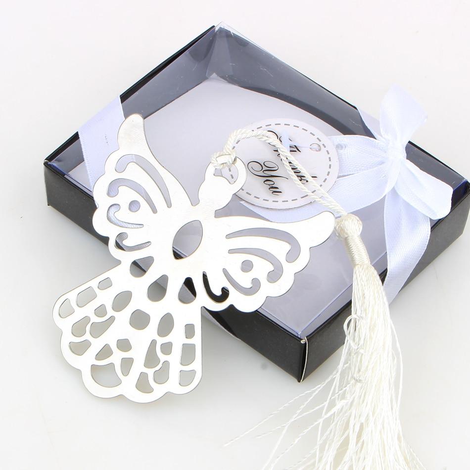 إشارة مرجعية ملاك فضية للتعميد ، هدايا تذكارية لحفلات التعميد ، هدايا الزفاف للضيوف ، صندوق هدايا 50 قطعة