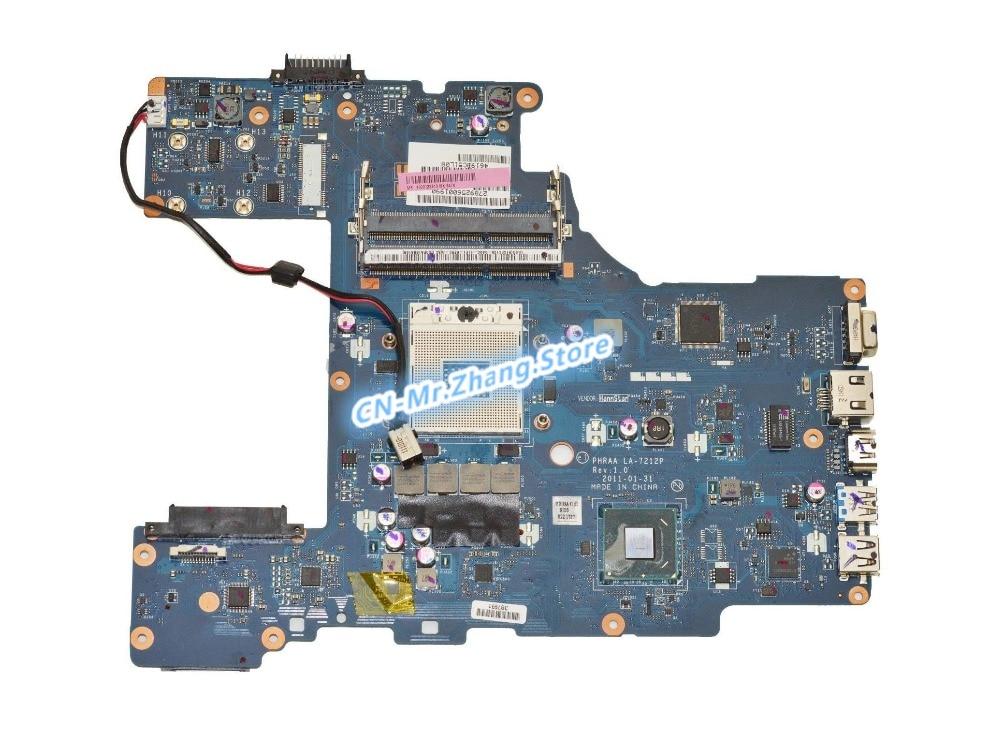 KEFU para Toshiba Satellite P755 P770 L755 placa base de computadora portátil K000128610 LA-7212P DDR3