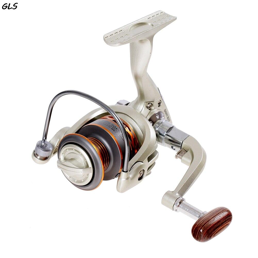 Nuevo carrete de pesca giratorio 5,5 1 carretes de pesca giratorios de Metal herramienta accesorio de pesca rueda de pesca 13BB DX1000-7000