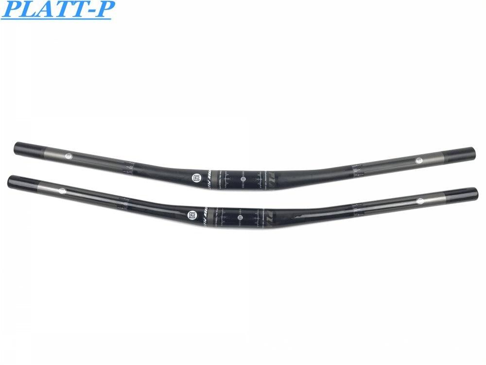 Manillar MTB Backsweep 9 grados bicicleta de carbono Color negro MTB piezas manillar plano/manillar de aumento de carbono 660-720mm