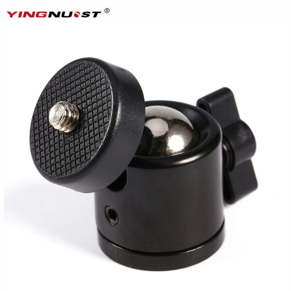 "YINGNUOST Black Color 360 Degree Mini Tripod Ball Head Ballhead 1/4""Screw Mount Stand DSLR DV Camera DSLR Camera Accessories"
