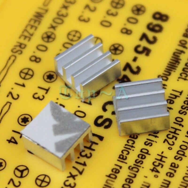 10 PCS Extruded Aluminum Heatsink 7mm x 3.5mm Chip VGA RAM Graphics Card IC Radiator Cooler 7x7x3.5mm