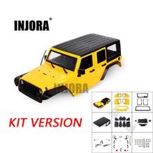 INJORA в разобранном виде 12,3 дюймов 313 мм Колесная база корпус автомобиля для 1/10 RC Гусеничный осевой SCX10 и SCX10 II 90046 90047 Jeep Wrangler