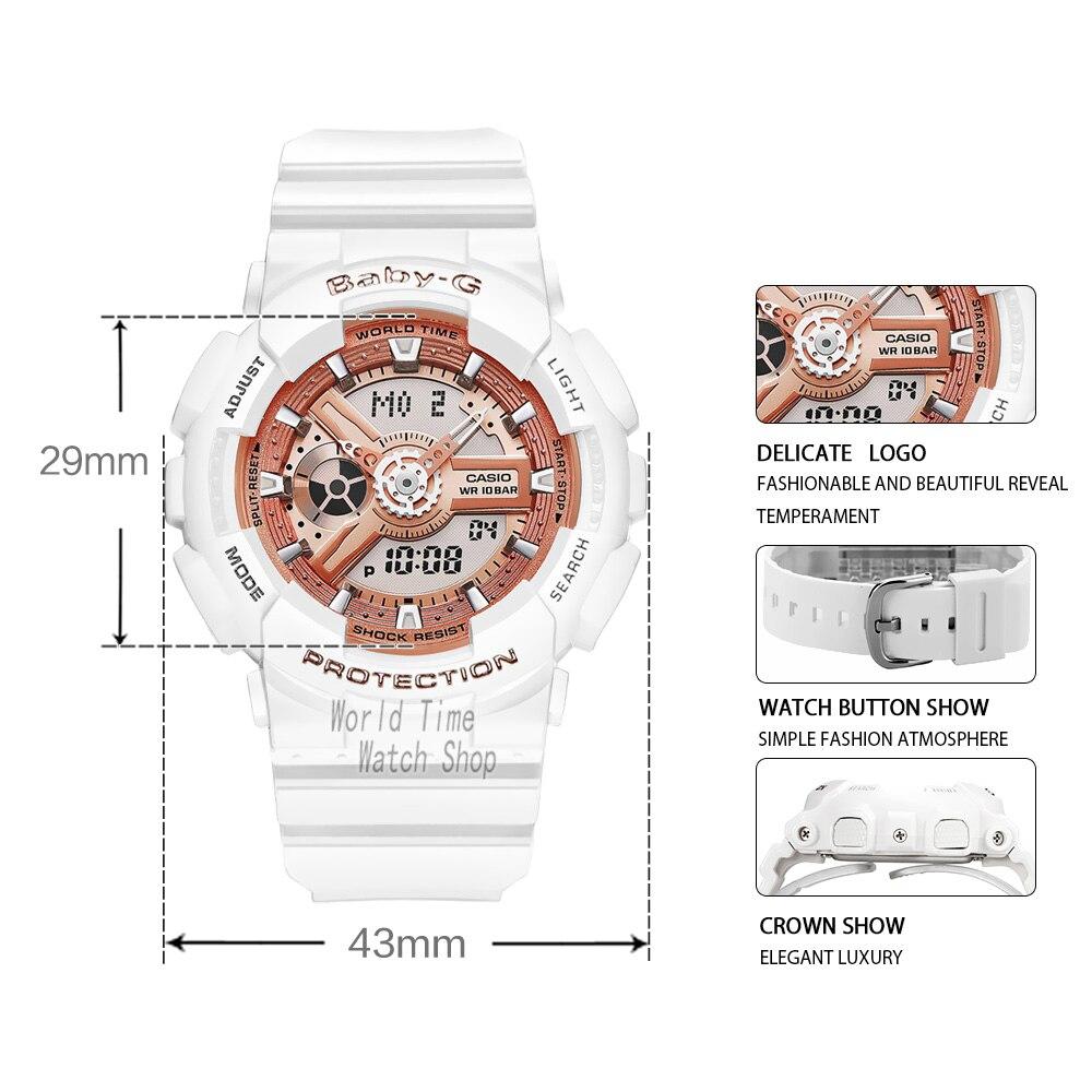 Casio watch baby-g women watches set luxury brand ladies watch 100m Waterproof LED clocks digital Quartz sport watch women часы enlarge