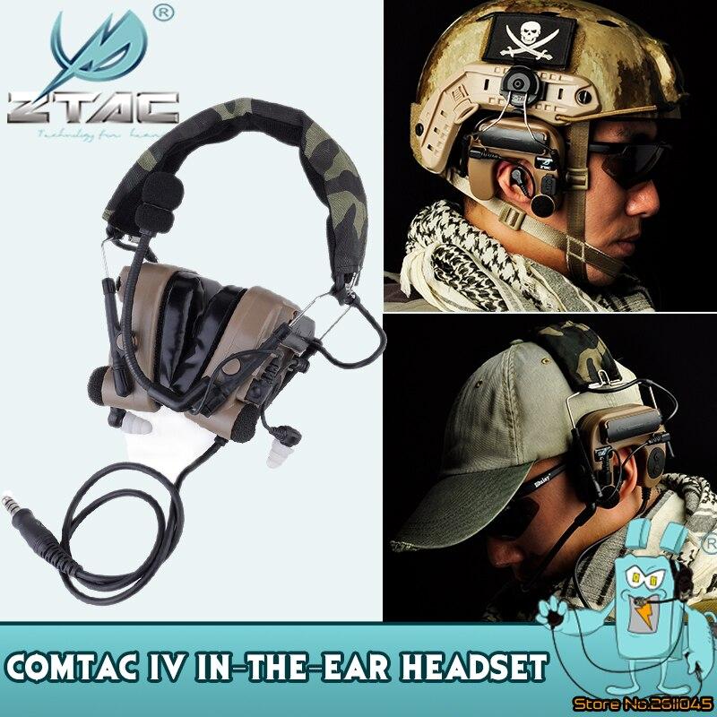 Z Tac Tactical Headphones Peltor Comtac IV Pickup Noise Reducation Shooting Headphones Airsoft Tactical Headset Z038