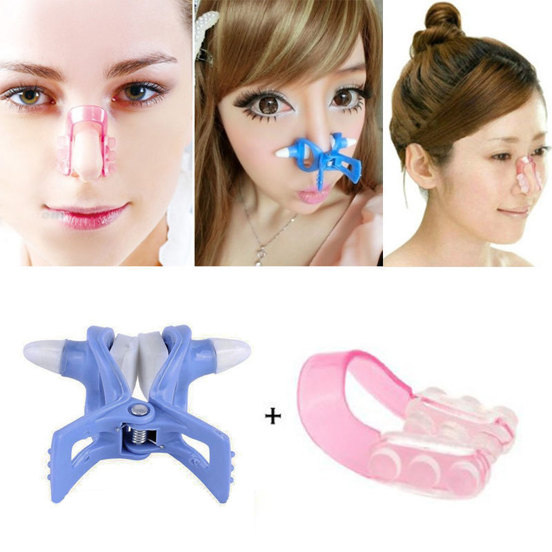 2Pcs Massager Care Nose Up Shaping Shaper Lifting + Bridge Straightening Beauty Clip Beauty Care Nos