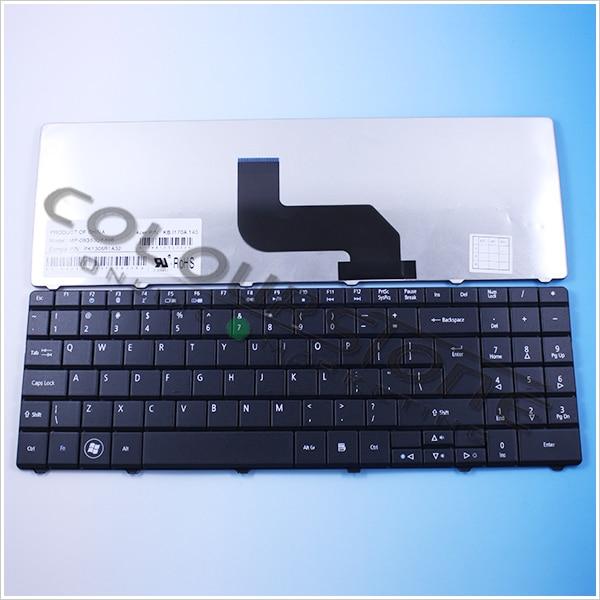 Negro nos teclado del ordenador portátil para Gateway NV52 NV53 NV58 DT85 LJ61 LJ63 LJ65 LJ67 LJ71 LJ73 LJ75 TJ61 TJ62 TJ65 T notebook teclado