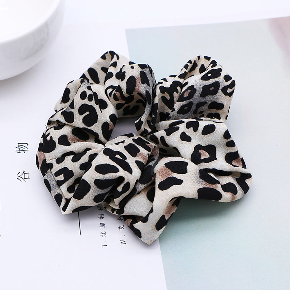 2020 nuevo Scrunchie Pelo elástico bandas de leopardo de terciopelo de las mujeres cuerdas para el cabello de niñas anillo lazos de pelo de cola de caballo titular accesorios para el cabello