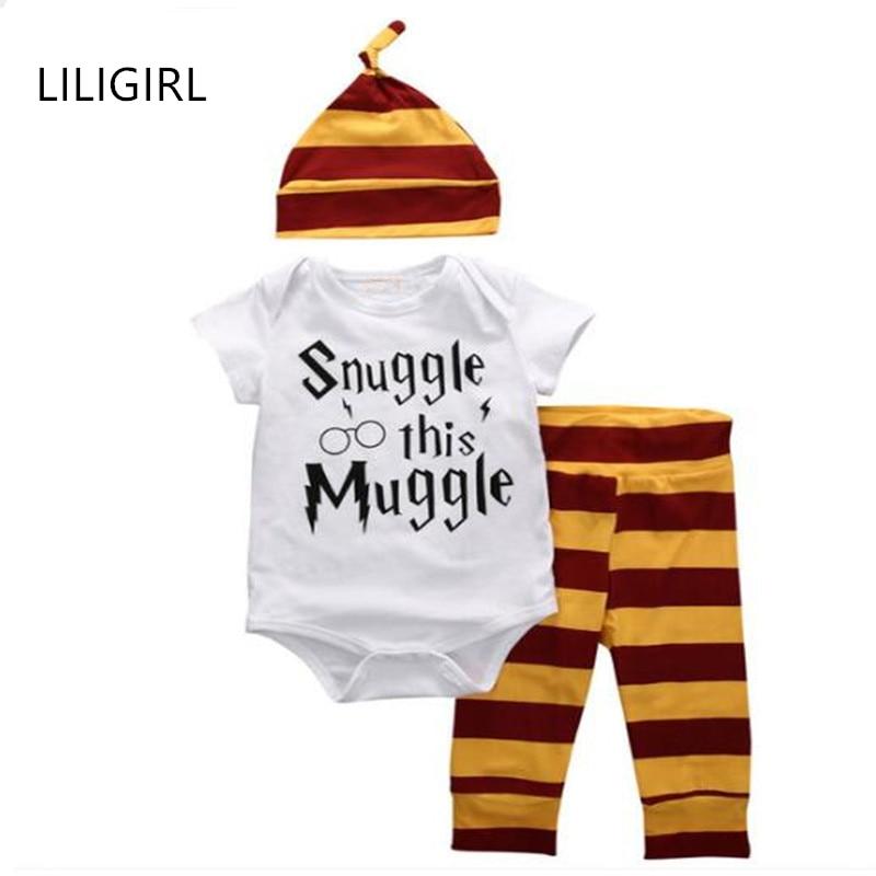 LILIGIRL 2020 Детские комплекты одежды для мальчиков и девочек, комбинезоны, белый хлопковый костюм с буквенным принтом, футболка + штаны в полоск...