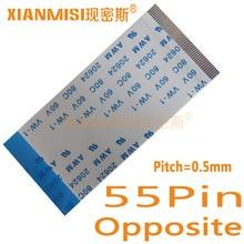 55Pin Câble Plat Flexible FFC Côté Opposé 0.5mm Pitch AWM 20624 80C 60 V Longueur 5 cm 8 cm 10 cm 15 cm 20 cm 25 cm 30 cm 35 cm 5 PCS