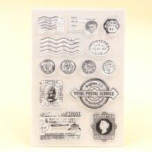 KLJUYP-timbre clair Postal   Timbre scrapbooking, en papier, artisanal, 318