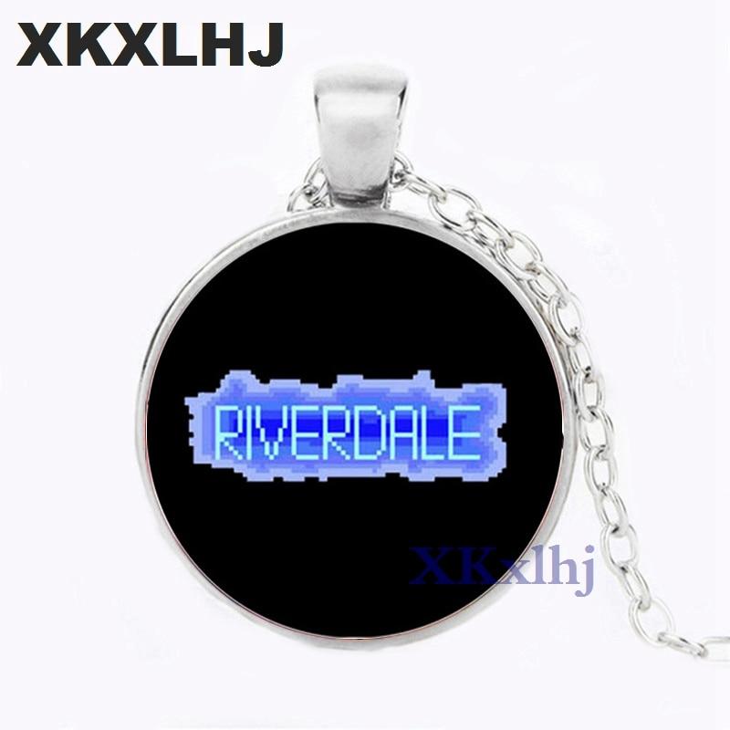 XKXLHJ Movie Riverdale Necklace Mysteries of Riverdale Pendant Jewelry Glass Necklace Charm Pendant Men Women Fashion Jewelry