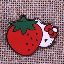 Hello Kitty Strawberry Lapel Pin Enamel Pin