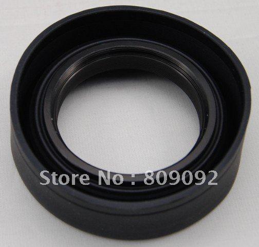 Cubierta de lente de goma suave de tres maneras 58mm
