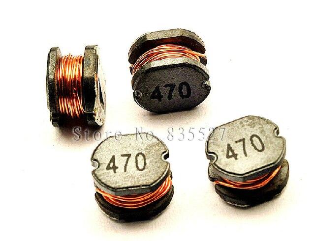 200 pçs/pçs/lote smd indutores de potência cd75 47uh impressão 470