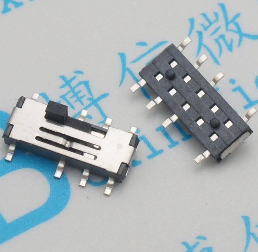 30 pcs/MSS23C02 8 Pinos interruptor SMD interruptor de 3 arquivos 2P3T