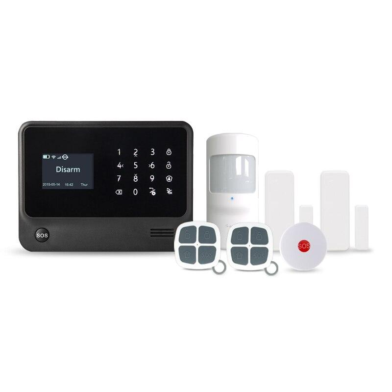 Smart home GSM Wifi sistema de alarma antirrobo 100 zona inalámbrica 8 zona de cable alarma de voz multilingüe con sensor PIR sensor de puerta