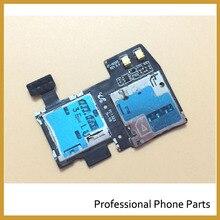 100% nouveau Original Micro SD carte SIM plateau Slot titulaire câble flexible pour Samsung Galaxy S4 Active I9295 I537 pièces de rechange de réparation