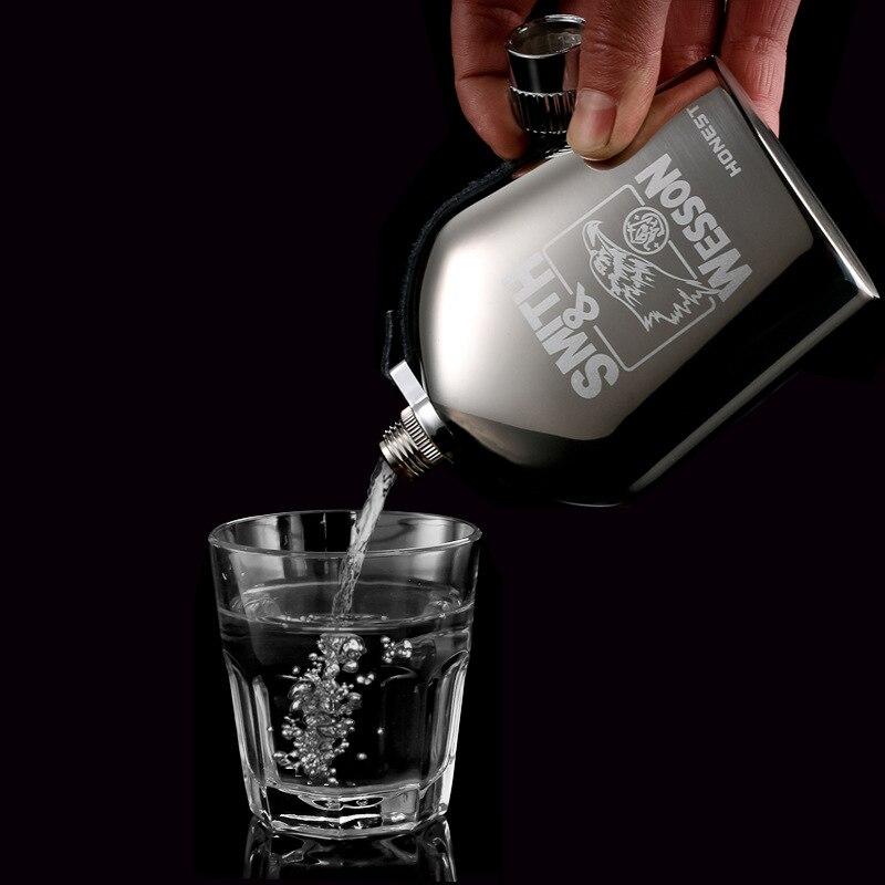 5 أوقية الفاخرة حاوية ستانلس ستيل للكحوليات الورك قوارير مجموعة المحمولة رجال الأعمال السفر الإفراغ ويسكي زجاجة نبيذ أفضل رجل هدية