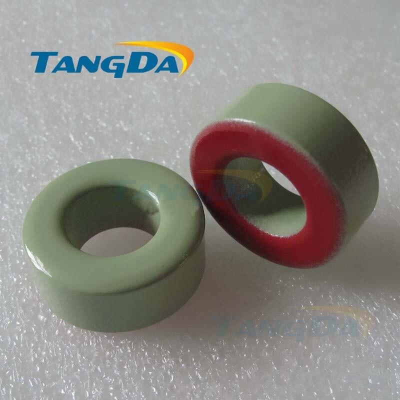 Tangda الحديد مسحوق النوى T106-18 OD * ID * HT 27*14.5*11mm 70nH/N2 55ue الحديد الغبار الأساسية الفريت حلقي حلقية الأساسية الأخضر الأحمر