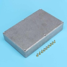 Алюминиевый корпус 1590DD Diecast 188x120x37мм корпус коробка водонепроницаемый гитарный желобок аксессуар для DIY гитарный эффект Педальный проект