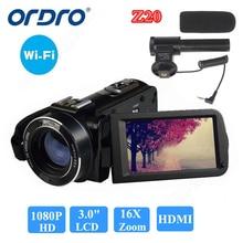 ORDRO HDV-Z20 1080P Full HD Цифровая видеокамера 24MP 16X Zoom 3,0