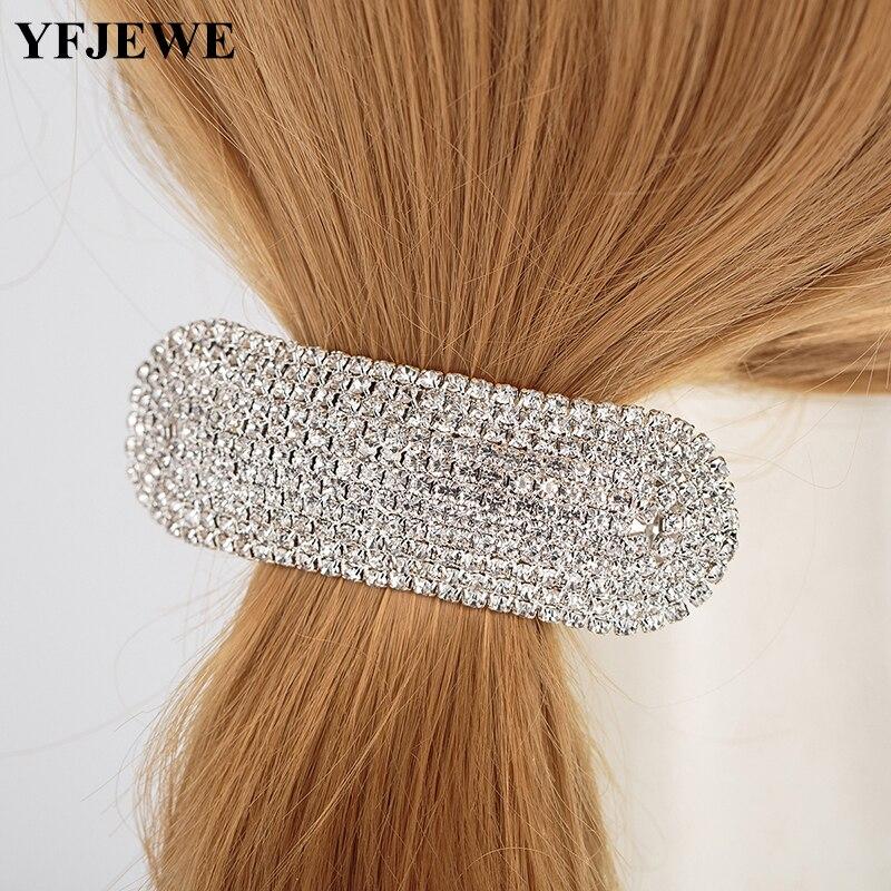 YFJEWE completa de cristal accesorios para el cabello de boda para novia pelo joyas de diadema Bandeau Bijoux Cheveux Coroa H050
