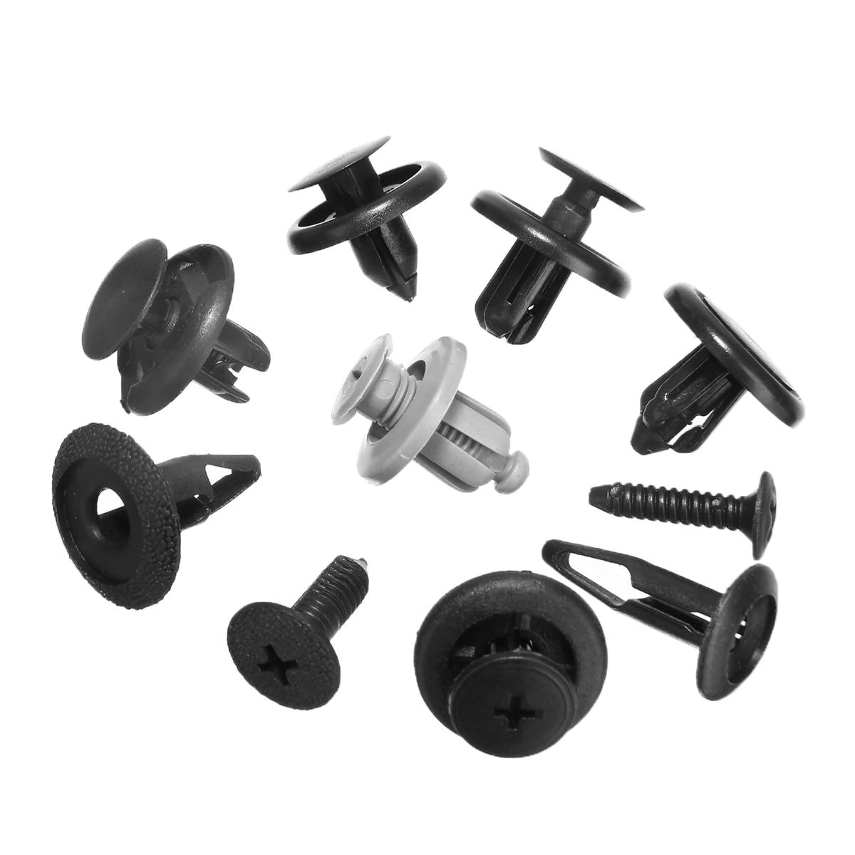 Mayitr New 100Pcs Mixed Fastener Clips Plastic Screw Rivet Clip Fastener Set For Car Trunk Bumper Fender